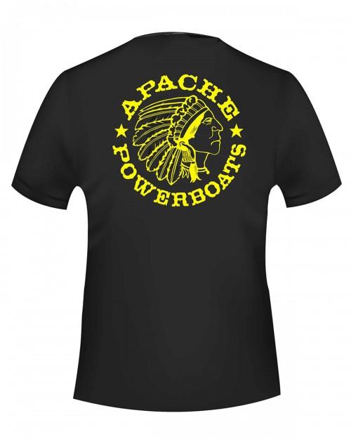Apache Powerboat Monochromatic Black T-shirt