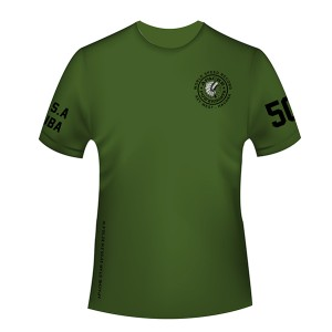 Apache World Speed Record T-Shirt - Short Sleeve - Military Green - Front