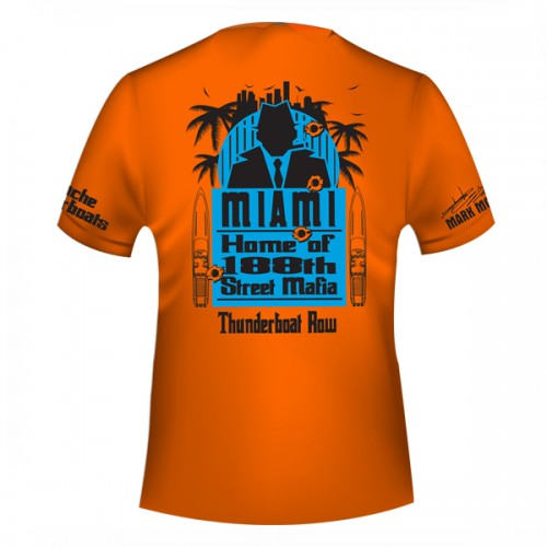 Apache - 188th Street Thunderboat Row T-Shirt - Orange - Cool-Dri