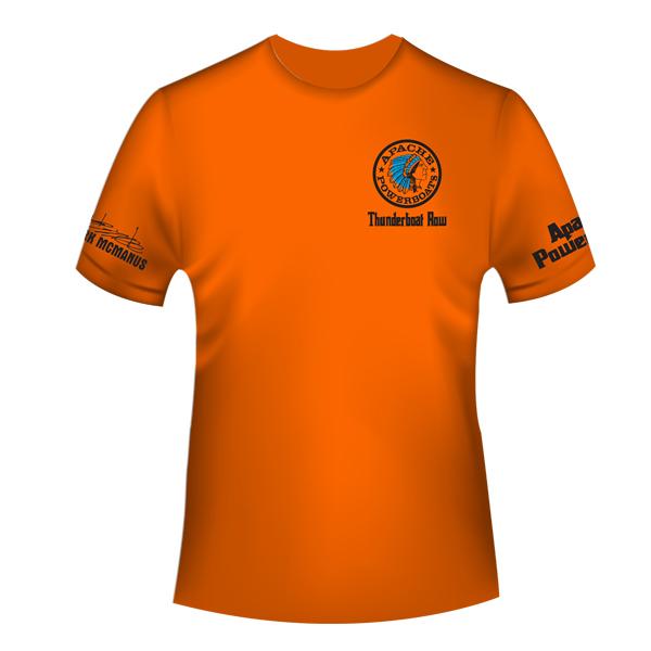 Apache - 188th Street Thunderboat Row T-Shirt - Orange - Cool-Dri