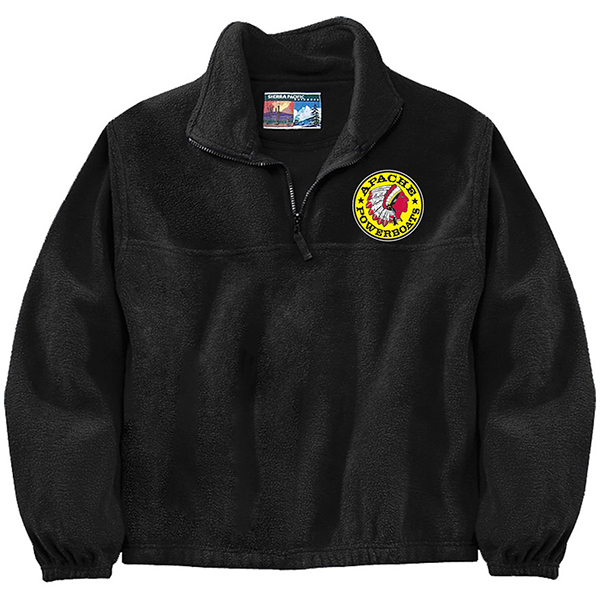 Apache Fleece Jacket - Black - Front