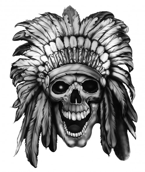 WARRIOR SKULL - by Richard Lucente