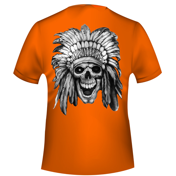 Apache Limited Edition - Warrior Skull T-Shirt - Back