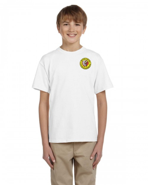 Youth Short Sleeve - Front Model View - White - W Logo