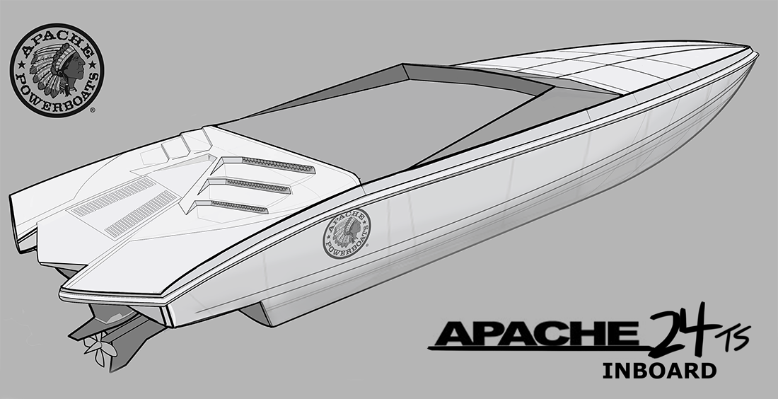 Apache 24 Speedster Boat Inboard
