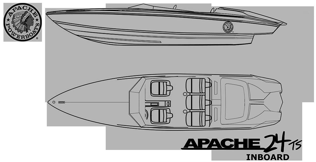 Apache 24 Speedster Boat - Inboard