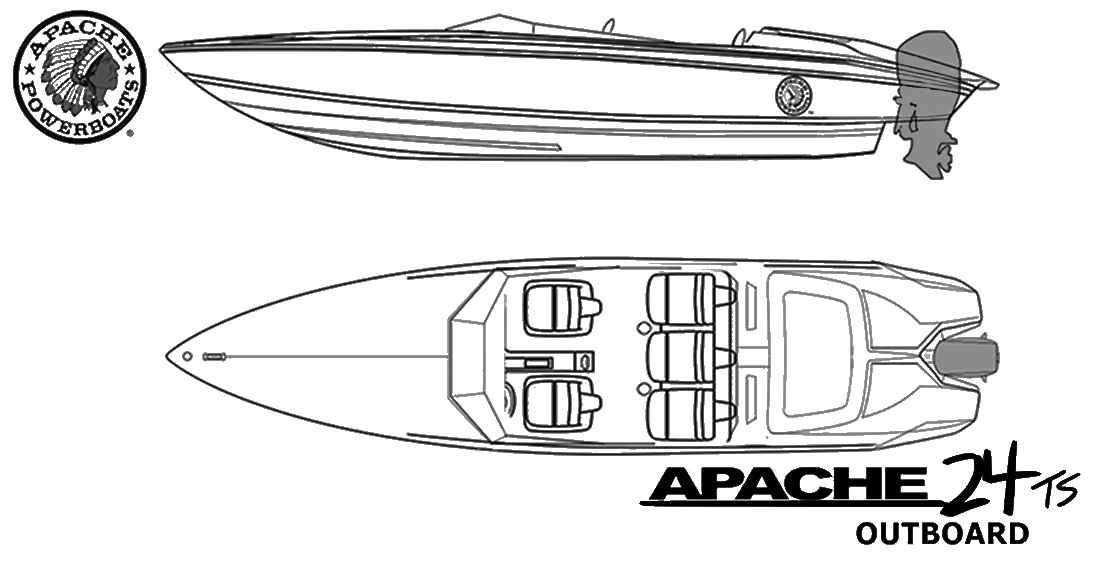 Apache 24 Speedster Boat Outboard